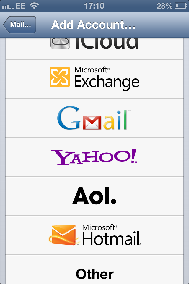Setting Up Your Setting Up Your Email Address using an iPhone4