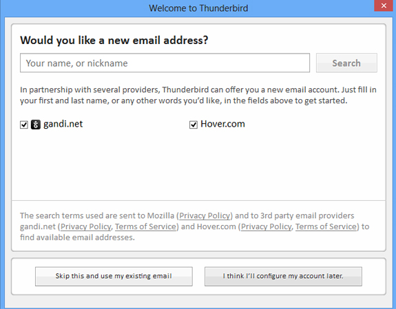 Setting Up Your Email Address in Mozilla Thunderbird
