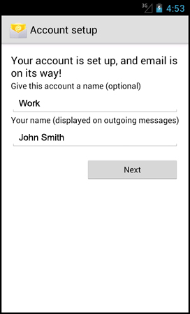 Setting Up Your Email Address using an Android Smartphone