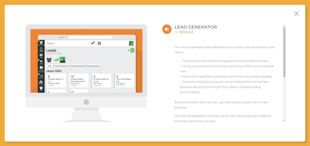 lead generator glowt software