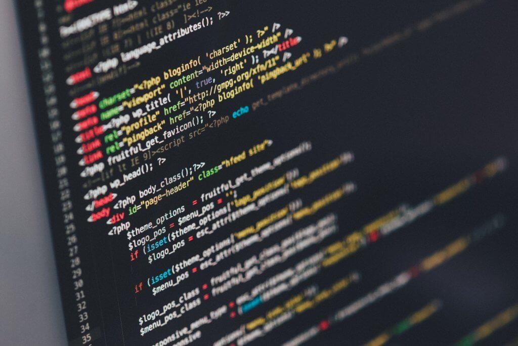 web development coding screen image