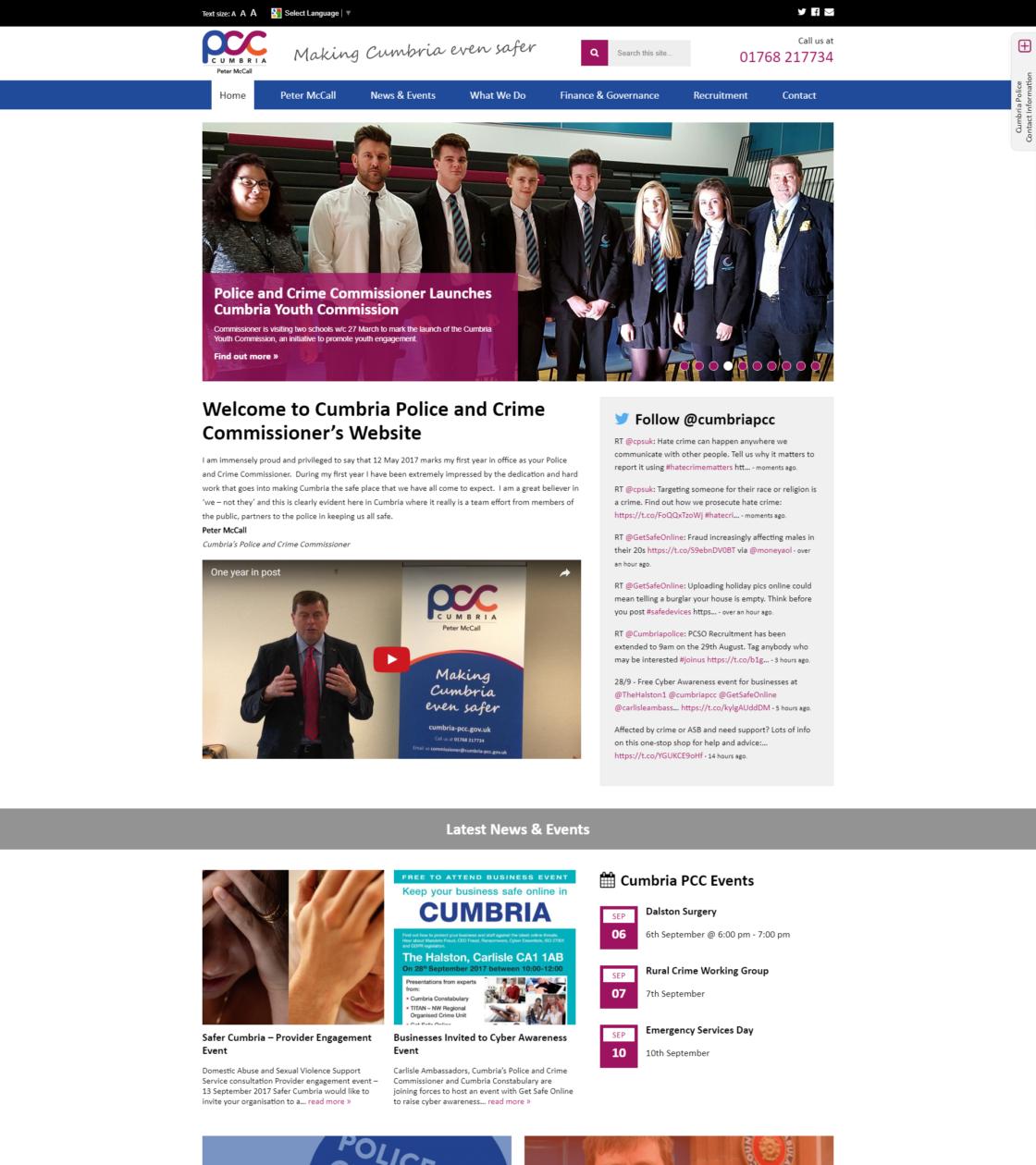 Cumbria Police & Crime Commissioner - Website | Formation Media