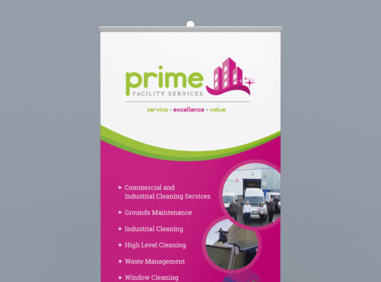 Pull-up Banners for Prime Facility Services | Formation Media Ltd.