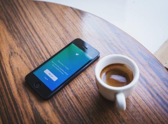 twitter marketing coffee phone image