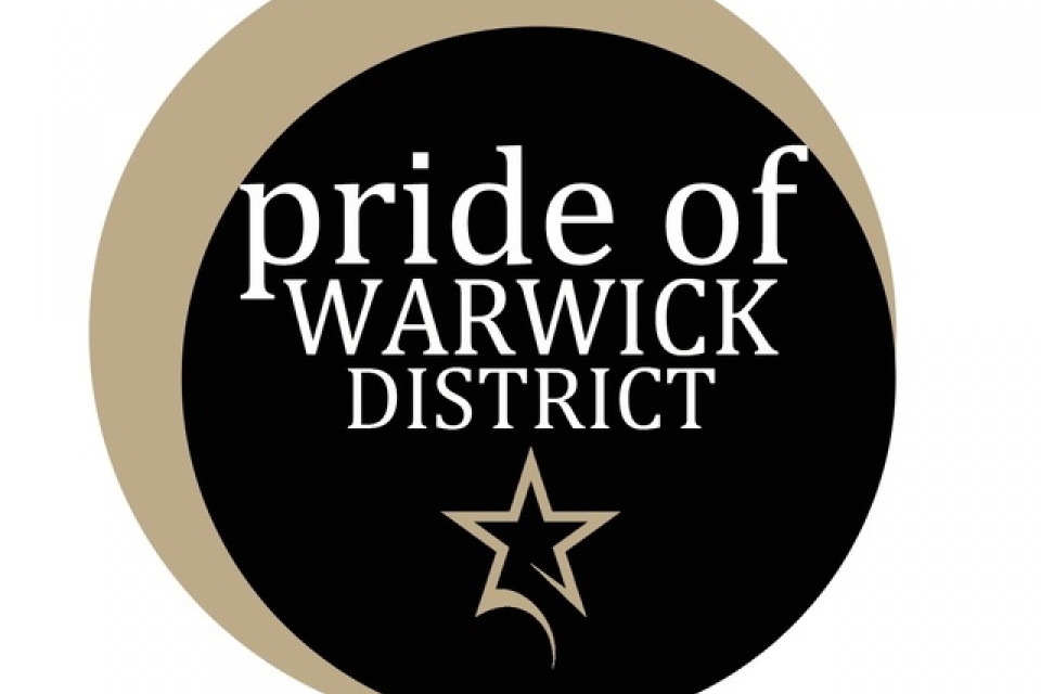 Pride of Warwick District Award Logo
