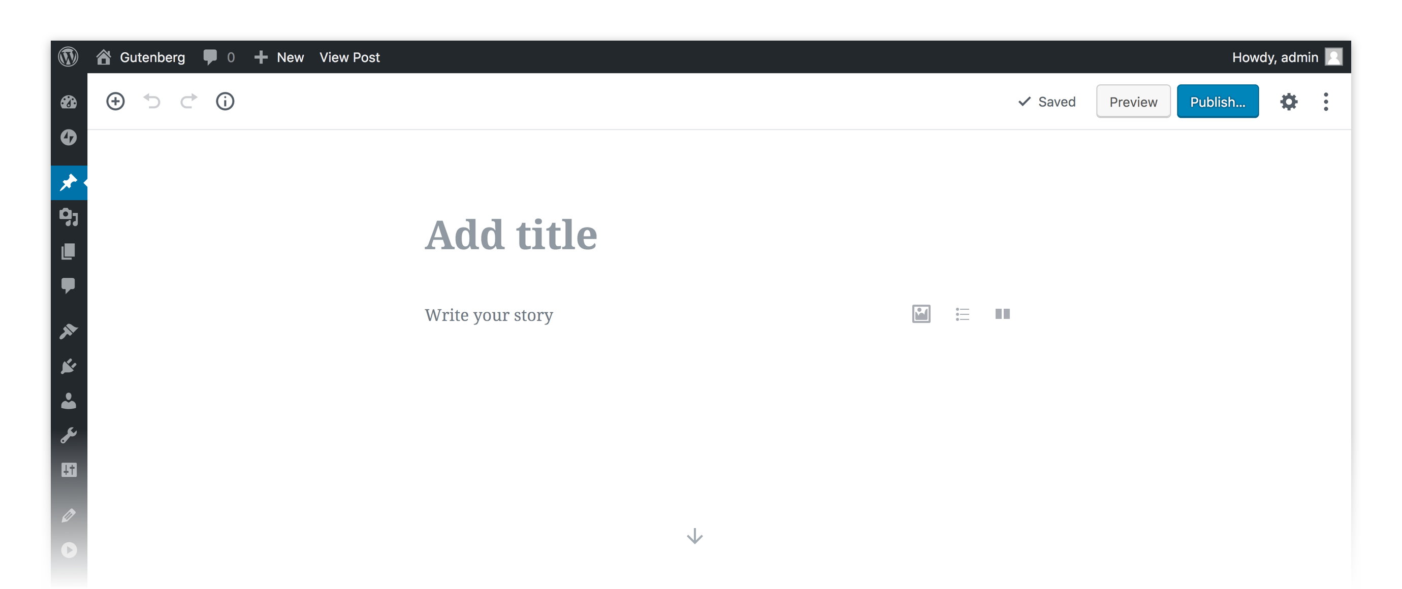 Gutenberg Screenshot
