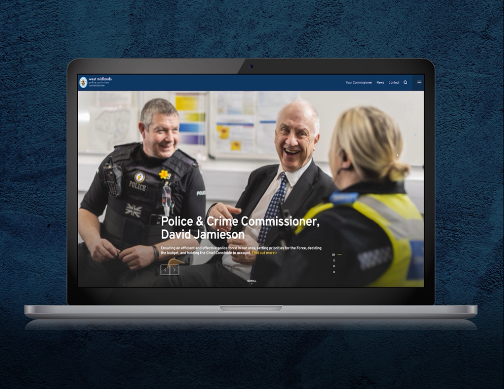 Screenshot of the West Mids PCC website
